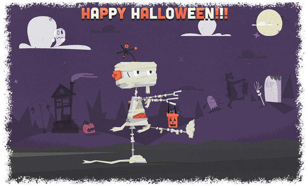 Halloween Promotion illustration 2013