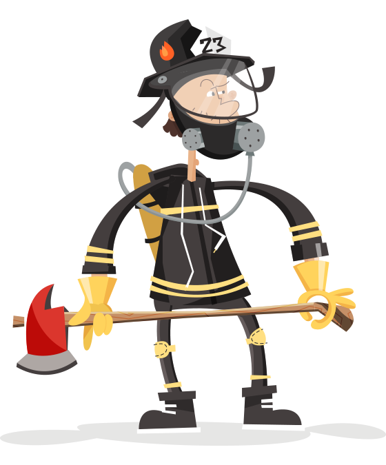 Highlights children illustration fireman