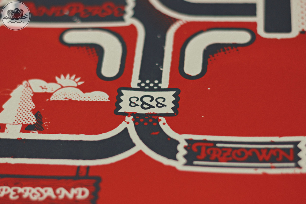 ampersand poster design screen print detail