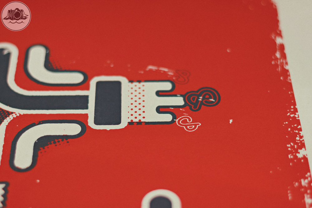 ampersand poster design screen print detail 2