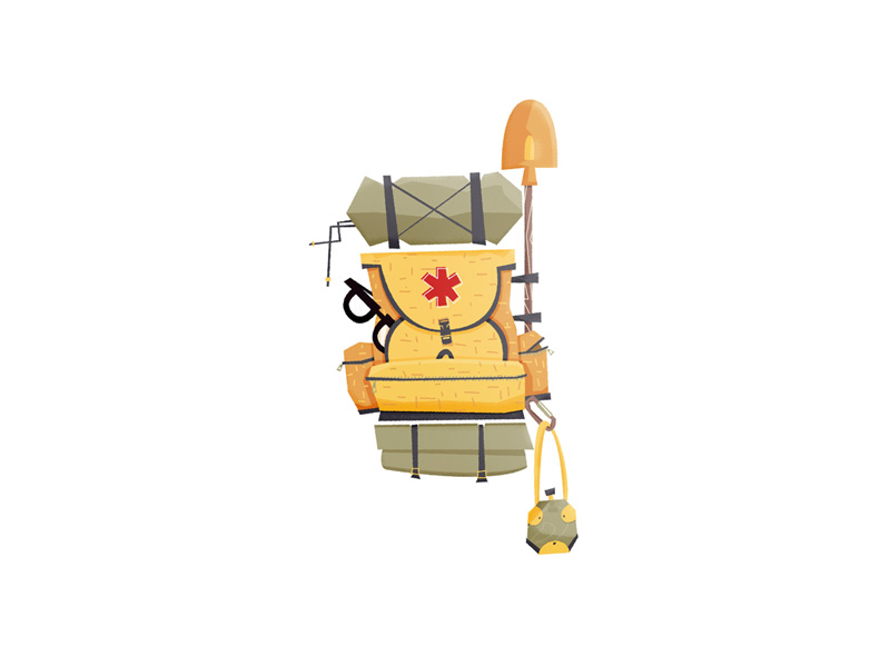 Rescue backpack illustration