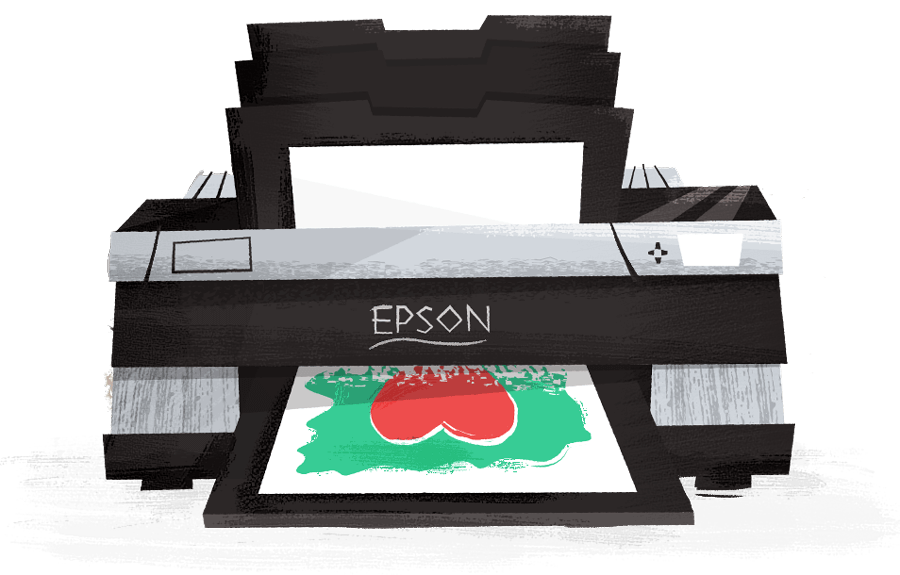 Epson 3880 Printer Illustration