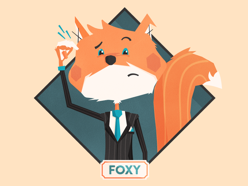 Fox Mascot Profile View
