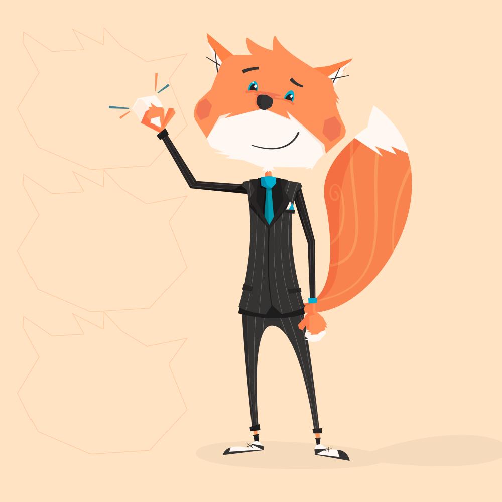Fox Mascot Standing