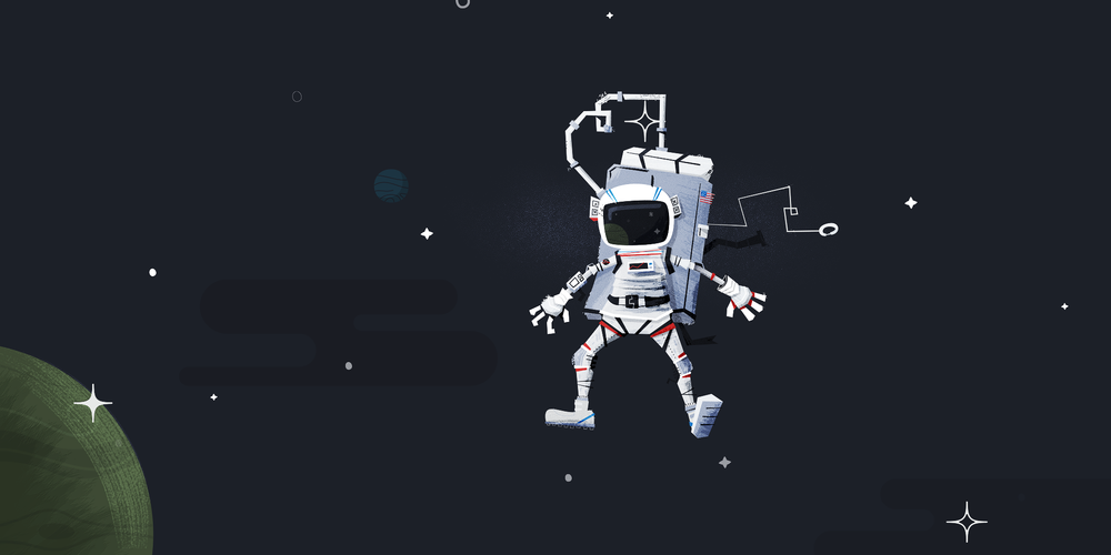 Google space illustration full
