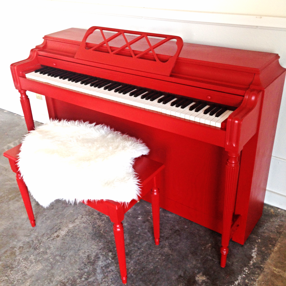 Warehouse Collective Painted Piano