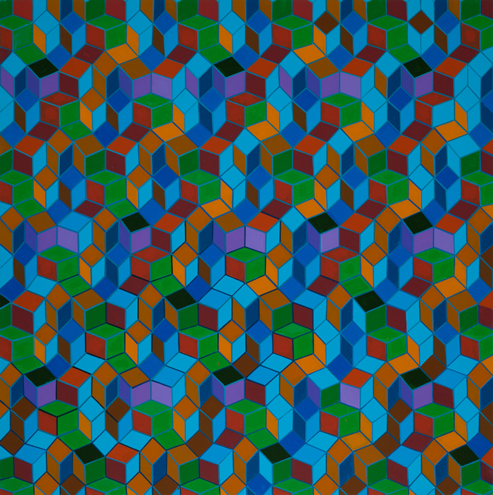 Clark Richert | Quantum Zone | Acrylic on canvas | 70 x 70in | 2013