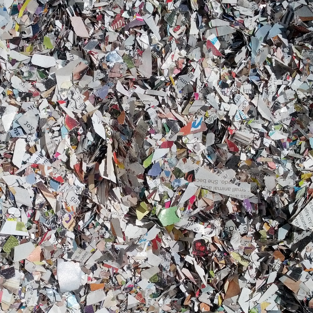 Magazines are collected locally and shredded in-house