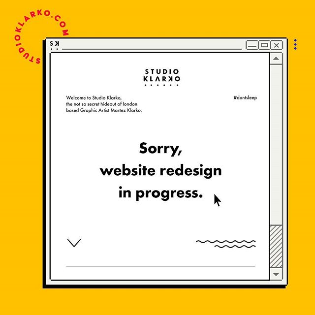 Currently redesigning my website so be patient with me... it'll be up again soon with all new work and projects. • #graphicdesign #studioklarko  #oldschool #windows