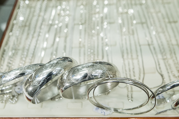 Silver rings and chains