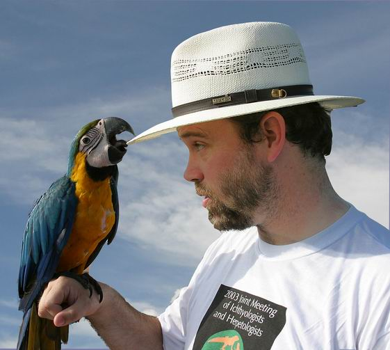 In Brazil with macaw