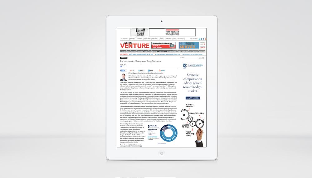 Lane Caputo Online Advertorial - Alberta Venture