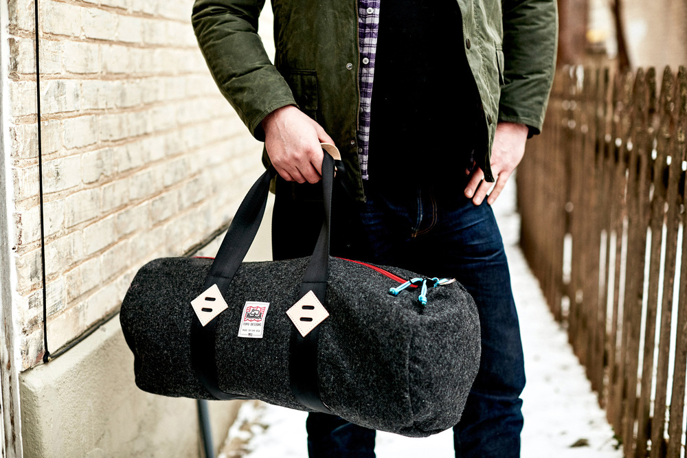 Duffle by Woolrich x Topo Designs | Jacket by Barbour | available at www.askovfinlayson.com