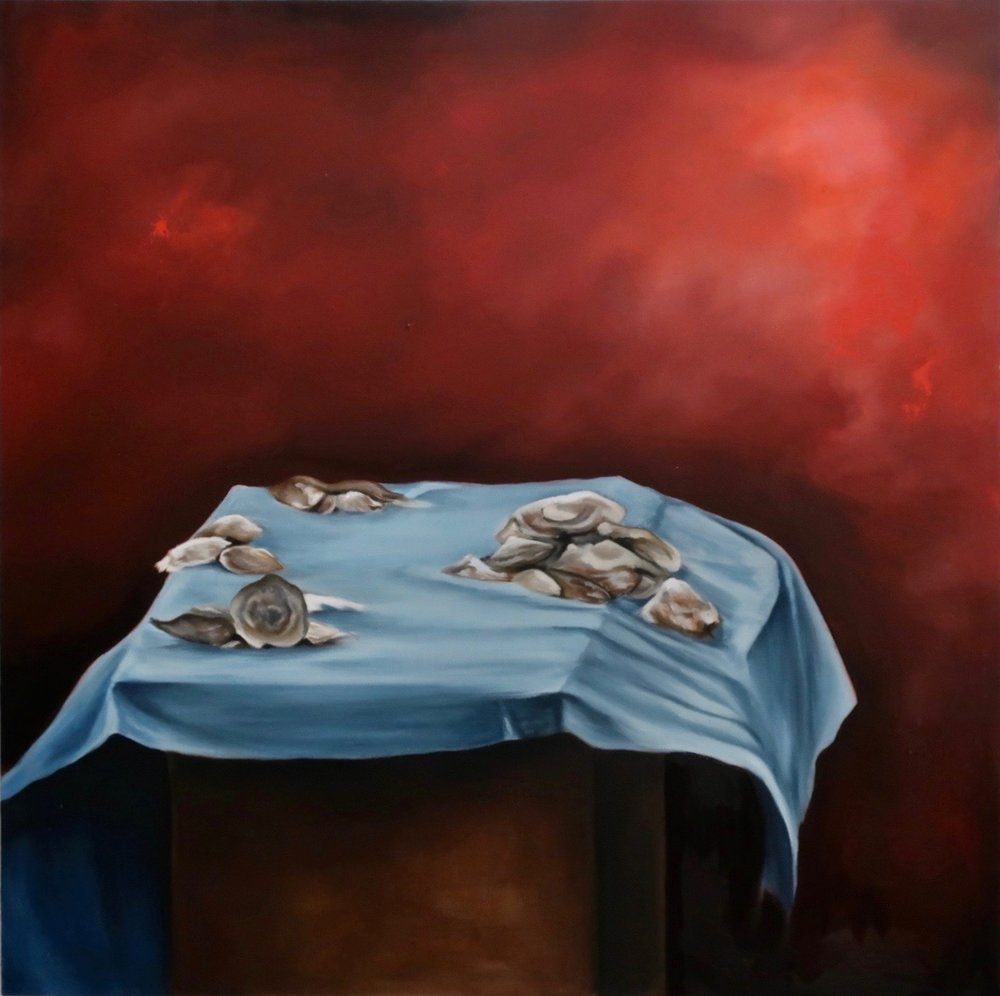 "Poor Hypatia, 2016  oil on canvas  48"" x 48"""