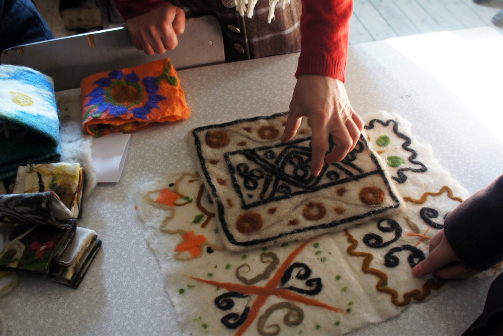 Women in Alvani share their Tusheti traditional design