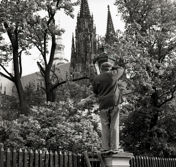 Lamplighter. Prague.