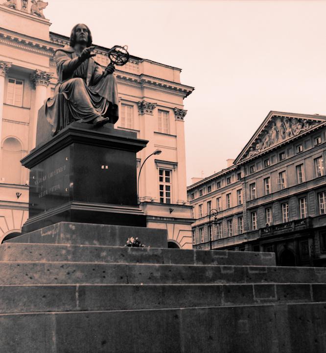 Copernicus statue. Warsaw