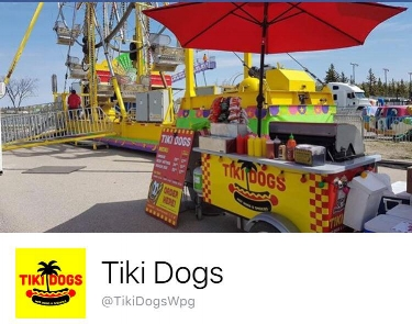 Tiki Dogs - Tiki Dogs is a tropical-themed hot dog cart from Winnipeg, Manitoba Canada. Owned and operated by two long-time friends; we are fully inspected and health board certified throughout the province of Manitoba.