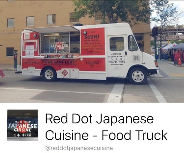 Red Dot Japanese Cuisine  - Father and daughter duo specializing in traditional Japanese food such as sushi & udon for on the go. (Futomaki rolls, California rolls, Nigiri) We do year round catering for special events.