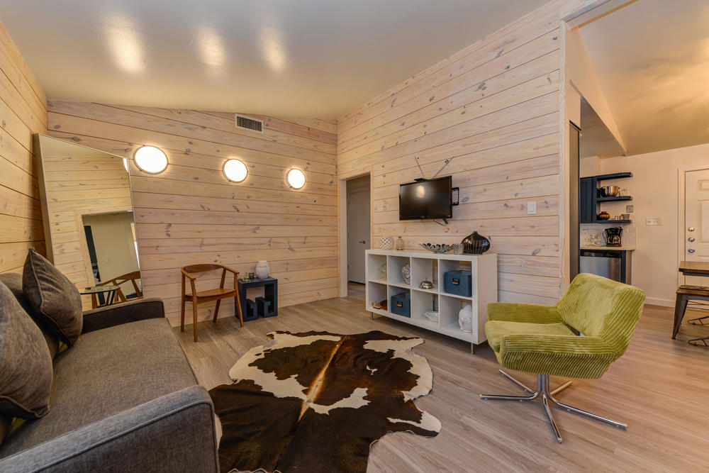 1913 Rabb Rd #A Perfect location in the middle of the Zilker neighborhood, just a 1 mile walk to Barton Springs and Zilker Affectionally known as the Unicorn unit.  White washed shiplap walls and porthole lights are reminiscent of a nautical retreat within the city