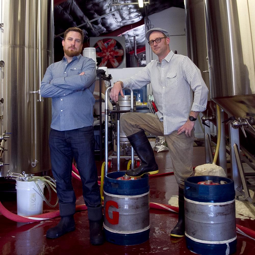 Gigantic Brewing's Ben Love & Ben Havig [photo by Erik Prowell]
