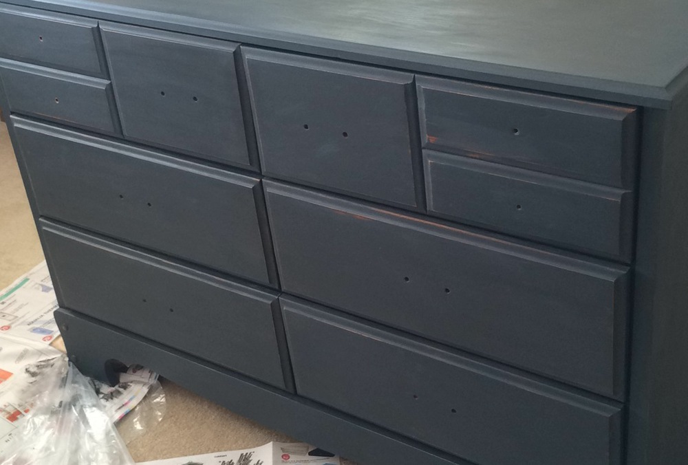 and the dresser, in a roughly assembled state.