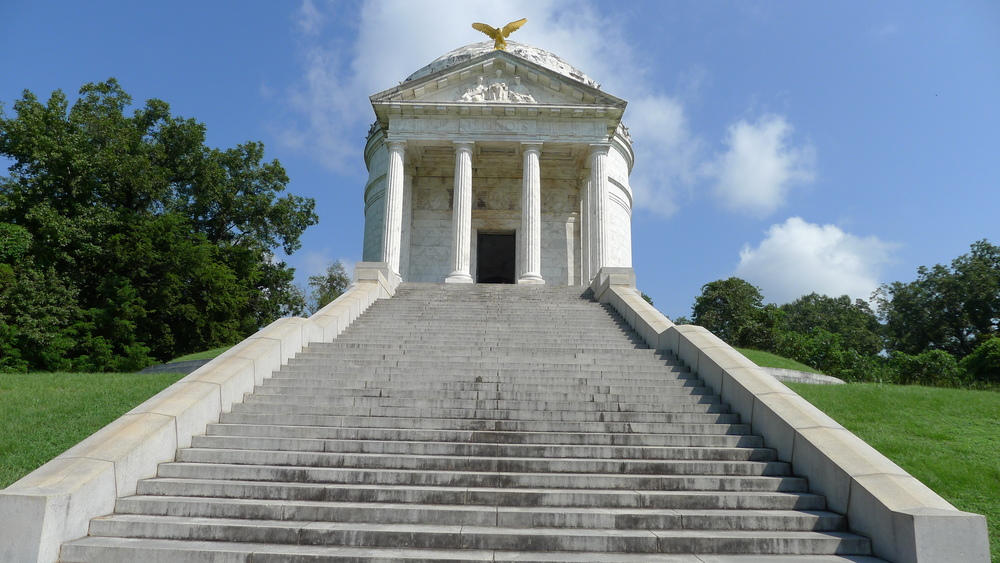 The Illinois Memorial at the Park.