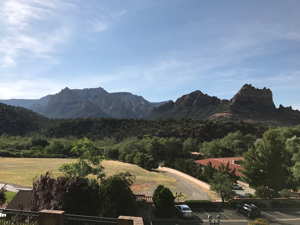 Our backyard view from our hotel in Sedona, AZ.