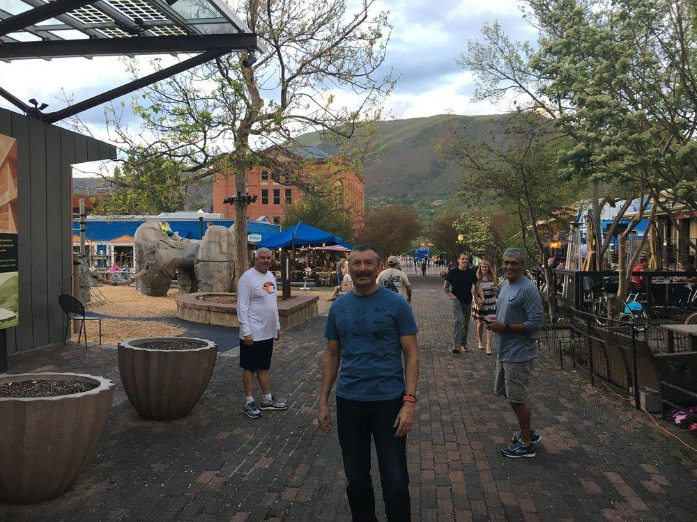 - Walking downtown Aspen