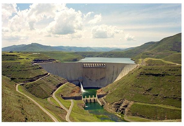 Environmental Impact Assessment of the Lesotho Highland Water Project, the Katse Dam. [Courtesy of Photobucket].  The Katse Dam - One of the largest  infrastructural projects for which GIDE has accomplished Environmental Impact Assessment. It is  a major international undertaking and is now the highest dam in Africa with a height of 185m.  It is also one of the world's largest concrete arch dams in terms of volume, with a capacity of nearly 2 billion cubic meters and a surface area of 38.5 square kilometers (1998/99).