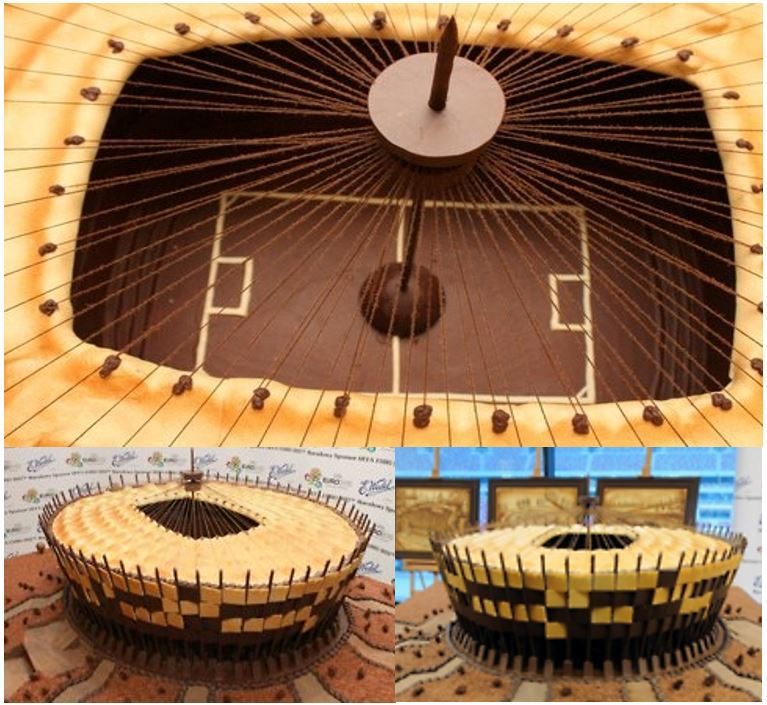 Anyone hungry?: Poland's 58,000 seat chocolate national stadium. Omnomnomnom. (Credit: A Football Report)