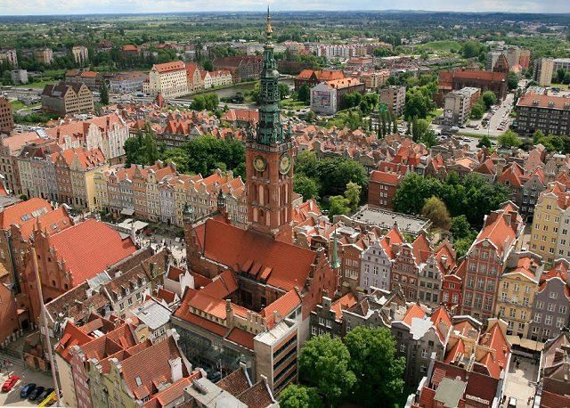 Bird's eye view of Gdansk Old Town (Photo credits: Pinterest)