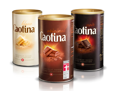 Caotina comes in three delicious flavours - milk chocolate, white chocolate, and dark chocolate.