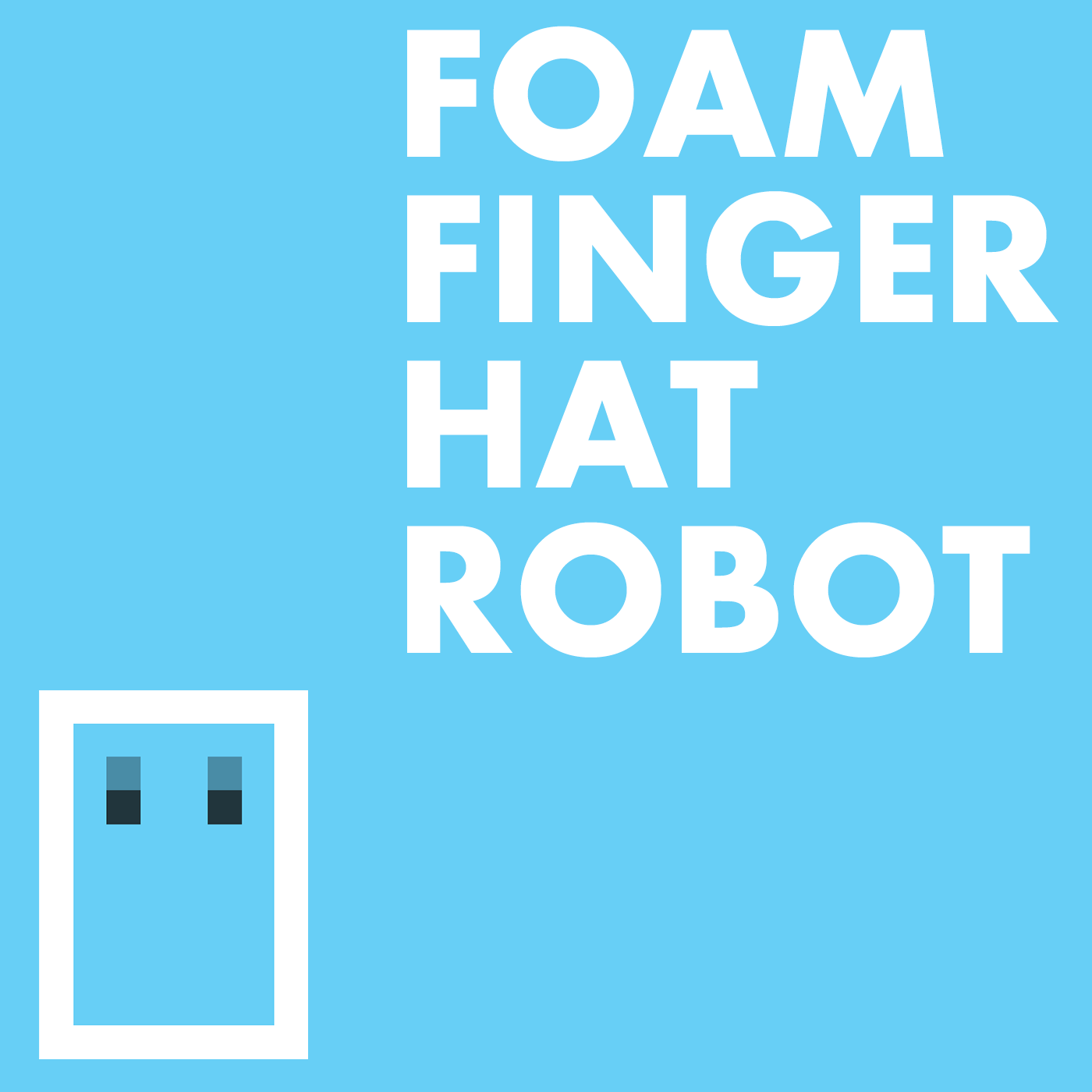 Foam Finger Hat Robot