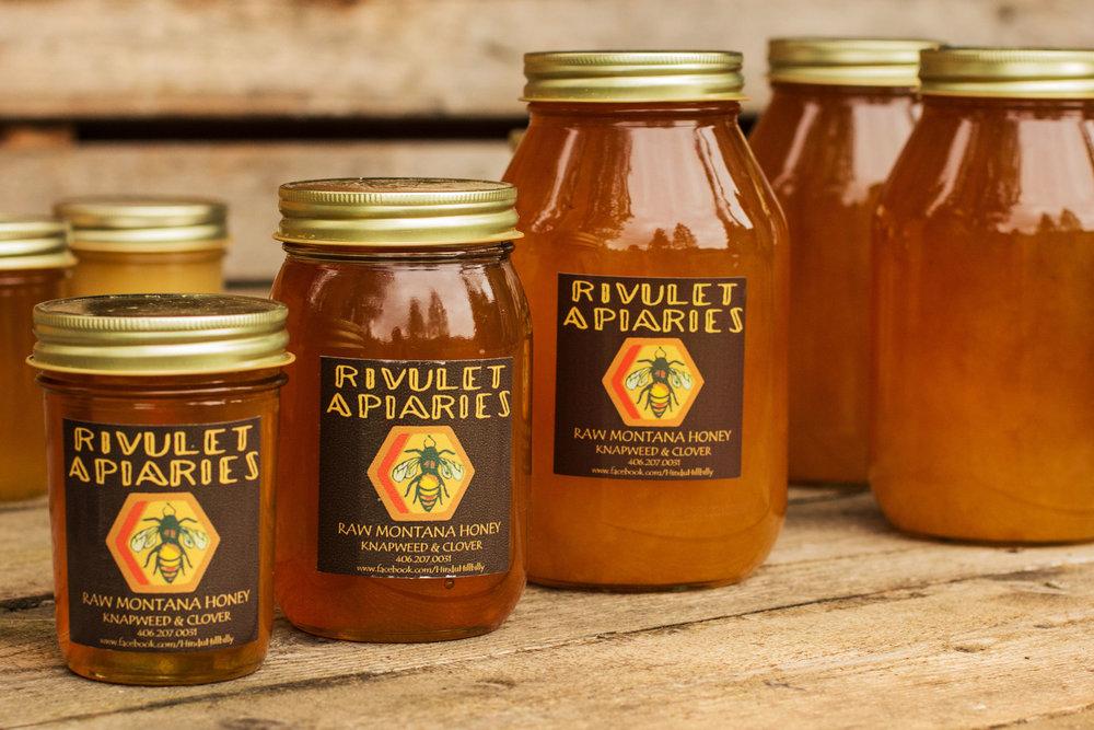 Raw Montana Honey  6oz, 10oz, 24 oz Jar's    Buy one