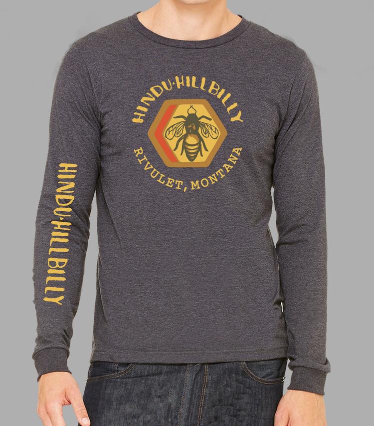 c6c0931cc786 Charcoal Grey Hindu Hillbilly Long Sleeve T-shirt — Hindu Hillbilly ...