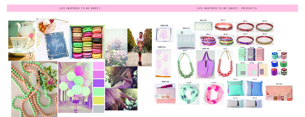 Live life Sweetly   Mood Board and Product List