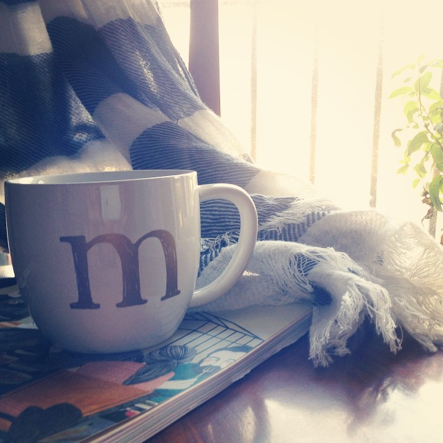 M is for: Monday. Morning Light. Morning coffee + Meesh. Thanks @laratasha for my oh so perfect house warming gift!