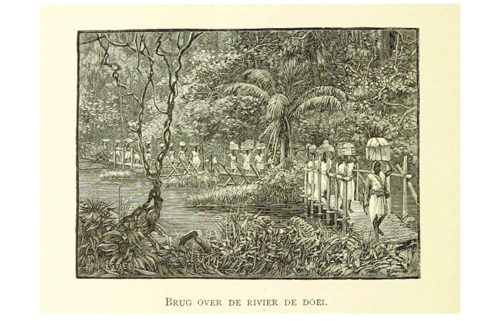 Image taken from 'Stanley in Afrika's donkere wildernissen, etc.'  Author: Henry Morton Stanley - Sir, G.C.B.  1890
