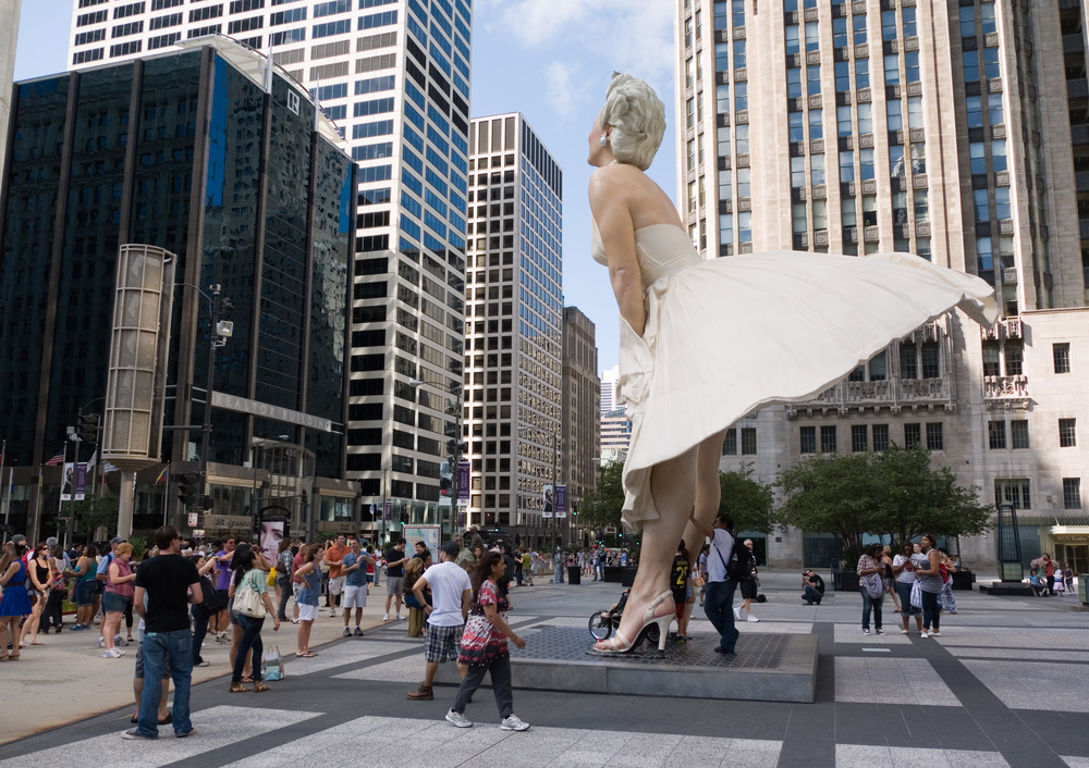 "American Archivists with Seward Johnson's ""Forever Marilyn"" statue"