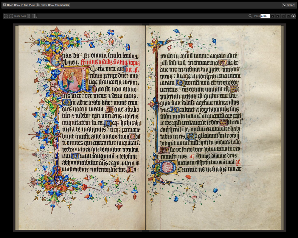 An early 15th-century Book of Hours from the University of Edinburgh.