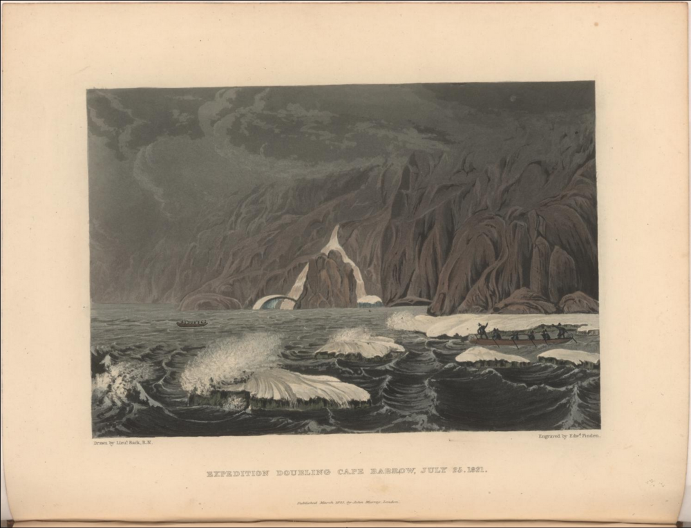From a narrative of a journey to the shores of the Polar Sea under Sir John Franklin.  Image date: 1823.