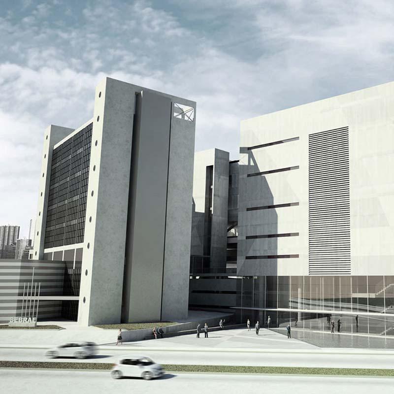 menção honrosa - 2008 - concurso nacional de arquitetura para a sede do sebrae - mg