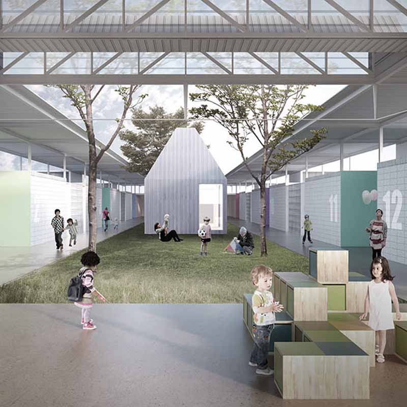 menção honrosa - 2016 - concurso nacional de arquitetura para o centro de ensino infantil em brasília - df