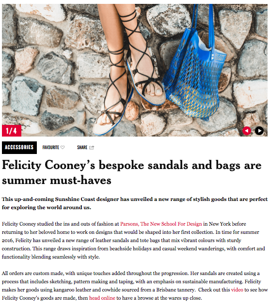 Thank you so much to The Weekend Edition for their feature on Felicity Cooney
