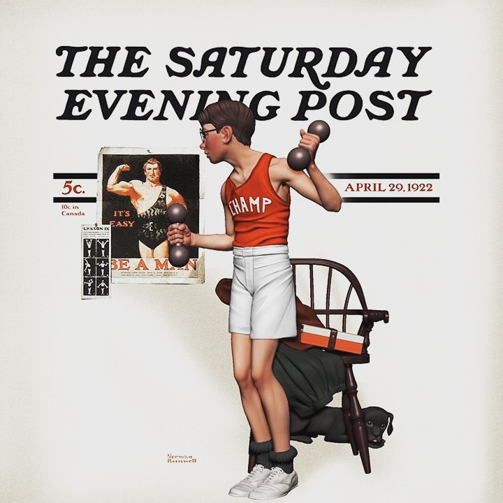 Norman Rockwell's The Bodybuilder.