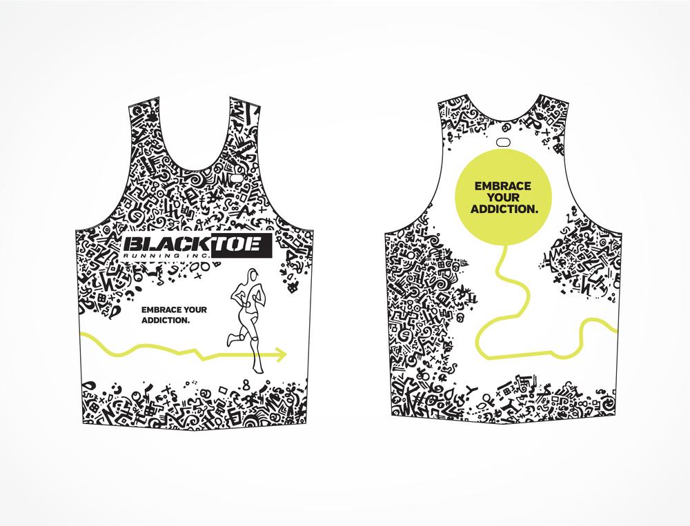 Blacktoe Marathon Jersey design concept 2