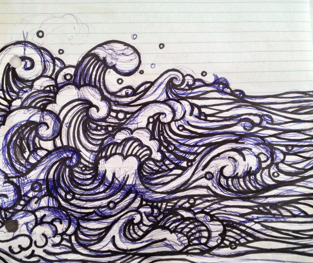 Wave design sketch