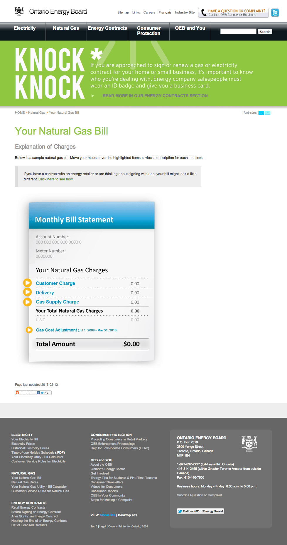 Monthly Natural Gas Bill UI Screencap