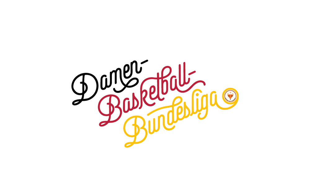 Damen Basketball Bundesliga Typography Illustration - German Flag Colours